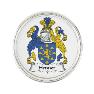 Henner Family Crest Lapel Pin
