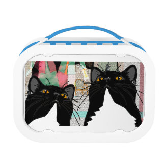 Henri and Mimi Enjoy Art Together - cats in love Lunch Boxes