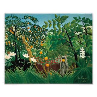 Henri Rousseau Exotic Landscape Print