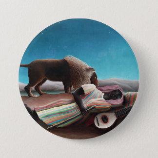 Henri Rousseau The Sleeping Gypsy Vintage 7.5 Cm Round Badge