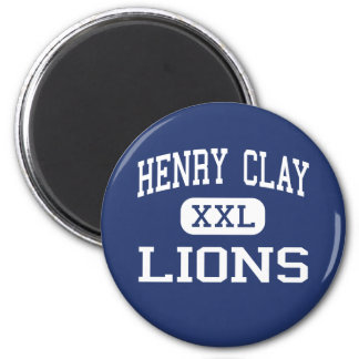 Henry Clay Lions Middle Los Angeles 6 Cm Round Magnet
