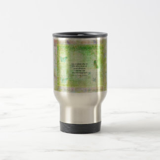 Henry David Thoreau Dream Quote with nature theme 15 Oz Stainless Steel Travel Mug