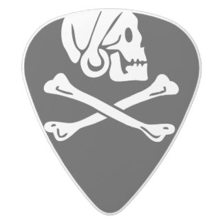 Henry Every Pirate Flag Guitar Pick White Delrin Guitar Pick