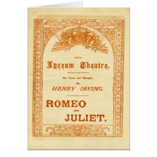 Henry Irving's Romeo & Juliet Card