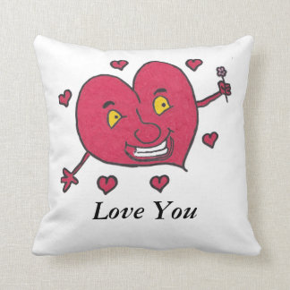 Henry the Heart 'Love You' Cushion Pillow