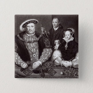 Henry VIII, his daughter Queen Mary 15 Cm Square Badge
