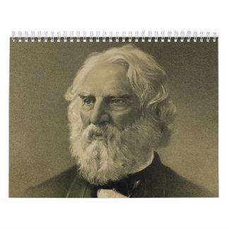 Henry Wadsworth Longfellow Portrait (1888) Calendar