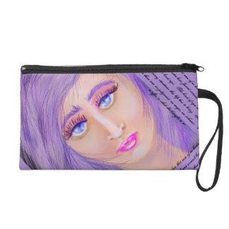 Her Lavender Hair Wristlet