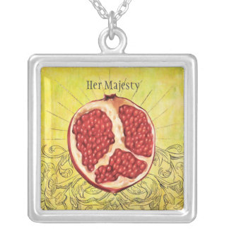 Her Majesty Silver Plated Necklace