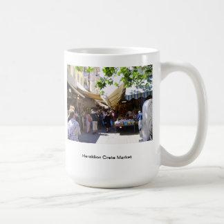 Heraklion Crete Market Basic White Mug