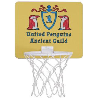 Heraldic Cartoon Penguins Mini Basketball Goal Mini Basketball Hoop