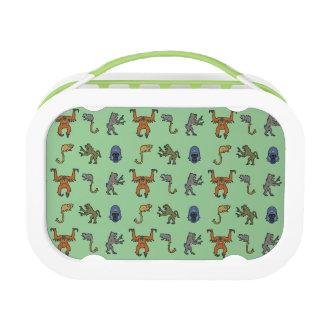 Heraldic Monkeys Pattern - Lunchbox