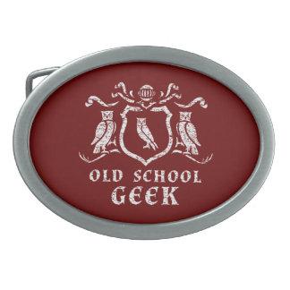Heraldic Owl Geek Belt Buckle