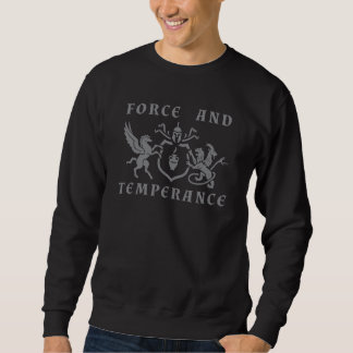 Heraldic Pegasus vs Chimera Gray Blazon Sweatshirt