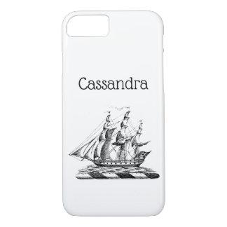Heraldic Vintage Nautical Clipper Ship Crest iPhone 8/7 Case