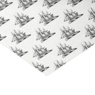 Heraldic Vintage Nautical Clipper Ship Crest Tissue Paper
