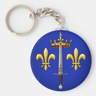 Heraldry of Joan of Arc Jeanne d'Arc Key Ring