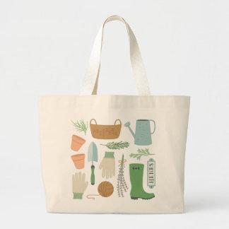 Herb Garden Large Tote Bag