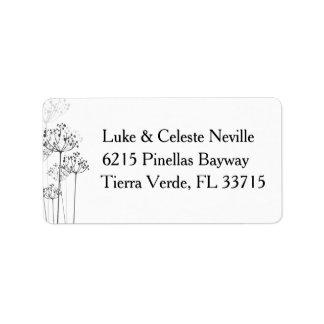 Herbal Rhapsody Newlyweds Address Label