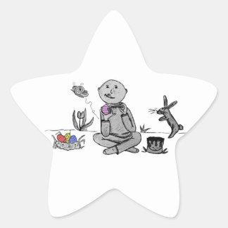 Herbert paints Easter Eggs Star Stickers