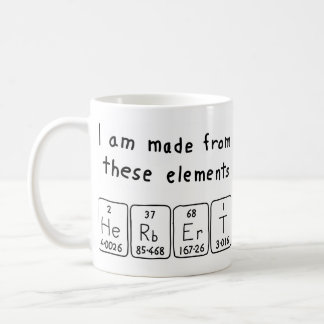 Herbert periodic table name mug