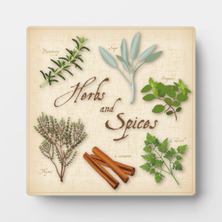 Herbs and Spices, Rosemary, Sage, Thyme, Cinnamon Plaque