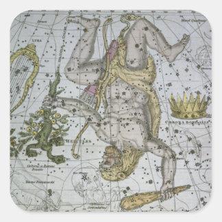 Hercules, from 'A Celestial Atlas', pub. in 1822 ( Square Sticker
