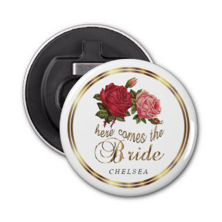 Here Comes the Bride  - Roses Bottle Opener