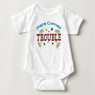 Here Comes Trouble Infant Baby Creeper Romper