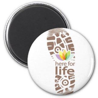 Here for Life Shoe Logo. Magnet