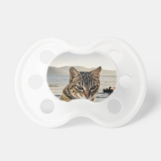 """""""Here I am"""" says the Cat Baby Pacifiers"""