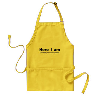 Here I Am What Are Your Other Wishes Standard Apron