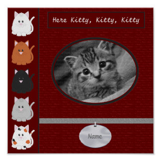 Here Kitty Scrapbook Page Poster