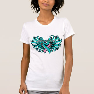 Hereditary Breast Cancer Awareness Heart Wings.png Tank Tops
