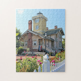 Hereford Inlet Lighthouse, New Jersey Jigsaw Puzzle