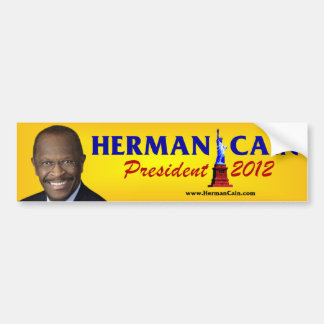 Herman Cain President 2012 Bumper Stickers