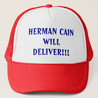 Herman Cain Will Deliver Trucker Hat