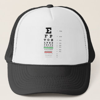 Herman Snellen Eye Chart to Estimate Visual Acuity Trucker Hat