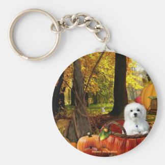 Hermes the Maltese Key Ring