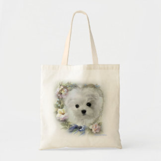 Hermes the Maltese Tote Bag