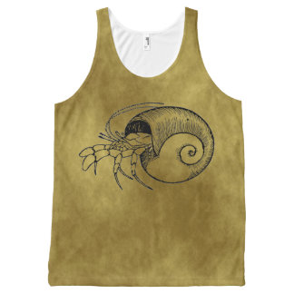 Hermit Crab All-Over Print Singlet