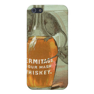 Hermitage Sour Mash Whiskey ad with two rats Case For iPhone 5/5S