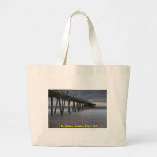 Hermosa Beach Pier,CA Large Tote Bag