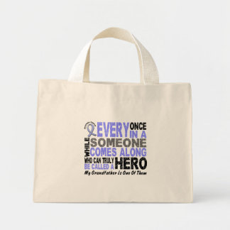 HERO COMES ALONG 1 Grandfather PROSTATE CANCER Canvas Bags