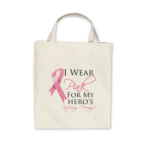 Hero Inspiring Courage Breast Cancer Tote Bag
