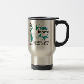 Heroes Become Angels Cervical Cancer Travel Mug