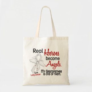 Heroes Become Angels Grandfather Lung Cancer Budget Tote Bag