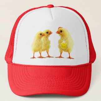 Heroic cockerel trucker hat