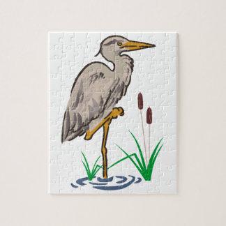 Heron In Marsh Jigsaw Puzzle