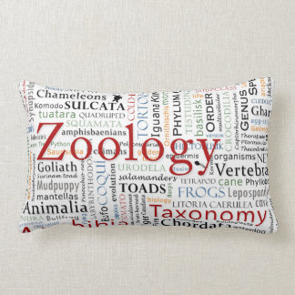 Herpetology in Typography Pillows